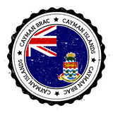 Cayman Brac flag badge. Royalty Free Stock Images
