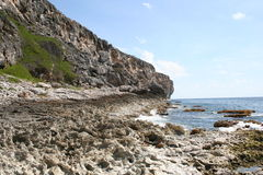 Cayman Brac Island Cliff Shoreline Royalty Free Stock Images