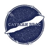 Cayman Brac vector map. Grunge rubber stamp with the name and map of island, vector illustration. Can be used as insignia, logotype, label, sticker or badge Stock Photos