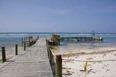 Cayman Island Dock and Boats Royalty Free Stock Photography