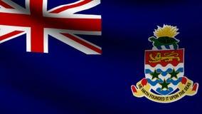 Cayman island flag stock footage