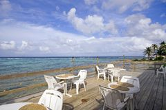 Cayman Island Resort Patio royalty free stock photography