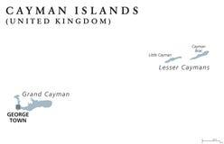 Cayman Islands political map Stock Photos