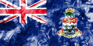 Cayman Islands smoke flag, British Overseas Territories, Britain. Dependent territory flag Royalty Free Stock Photo