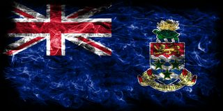 Cayman Islands smoke flag, British Overseas Territories, Britain. Dependent territory flag Royalty Free Stock Images