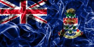 Cayman Islands smoke flag, British Overseas Territories, Britain. Dependent territory flag Stock Photos