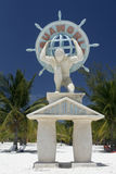 Cayo Blanco - Cuba. A statue in Cayo Blanco at Cuba stock images