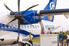 CAYO LARGO, CUBA - 10 MAI 2017 : Avion à l'aéroport Photographie stock