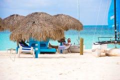 CAYO LARGO, CUBA - 10 MAI 2017 : Plage sablonneuse du paradis de Playa Photo libre de droits