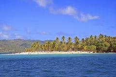 Cayo Levantado i Samana, Dominikanska republiken royaltyfri bild