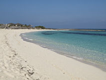 Cayo Santa Maria Beaches. An hotel's beach on the seaside in Cayo Santa Maria, Cuba Stock Image