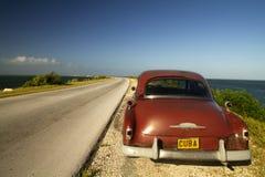 Cayo Santa Maria droga na grobli, Kuba Zdjęcie Royalty Free