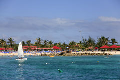 cays Beach Panorama公主 免版税库存图片