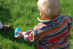Caza 2 del huevo de Pascua Imagen de archivo libre de regalías