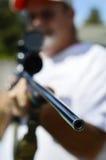 Caza de la escopeta del arma Imagen de archivo
