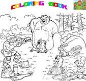 Caza de la foto de colorante libre illustration