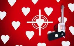 Caza de la tarjeta del día de San Valentín Fotografía de archivo