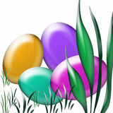 Caza del huevo de Pascua Fotografía de archivo