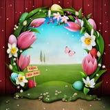 Caza del huevo de Pascua ilustración del vector