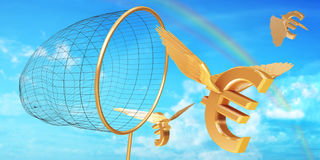 Caza euro Imagen de archivo