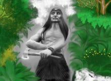 Caza india en el bosque colorido fotografía de archivo