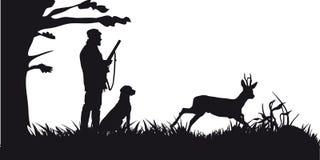 Caza motiva de animales y de landscapes17 ilustración del vector