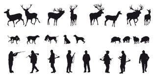 Caza motiva de animales y de landscapes18 libre illustration