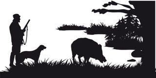 Caza motiva de animales y de landscapes26 stock de ilustración