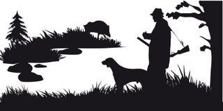 Caza motiva de animales y de landscapes28 stock de ilustración