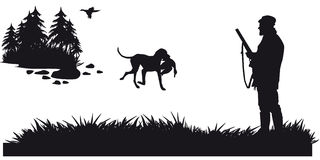 Caza motiva de animales y de landscapes8 ilustración del vector