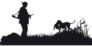 Caza motiva de animales y de landscapes9 ilustración del vector