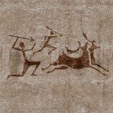Caza prehistórica stock de ilustración