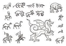 Caza y animales Imagenes de archivo