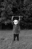 Cazador blanco del conejo Imagenes de archivo