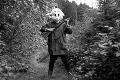Cazador blanco del conejo Foto de archivo