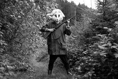 Cazador blanco del conejo Fotografía de archivo