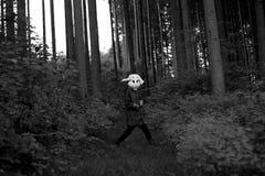 Cazador blanco del conejo Foto de archivo libre de regalías