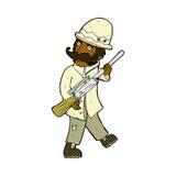 cazador cómico del gran juego de la historieta Fotografía de archivo libre de regalías