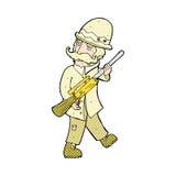cazador cómico del gran juego de la historieta Imagen de archivo libre de regalías