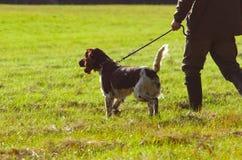 Cazador con su perro Fotos de archivo libres de regalías