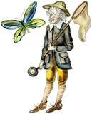 Cazador de la mariposa ilustración del vector