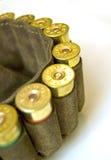 Cazador de la pistolera con los cartuchos de la escopeta Foto de archivo libre de regalías