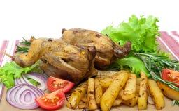Cazador del botín: apetitoso frito con las coallas de las verduras imagen de archivo libre de regalías
