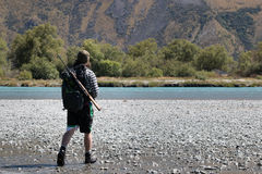 Cazador del kiwi fotografía de archivo