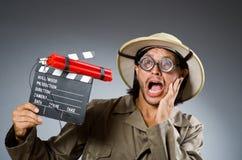 Cazador divertido del safari Fotos de archivo libres de regalías