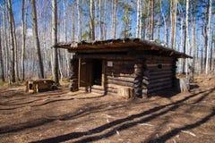 Cazadores de casa de madera Foto de archivo libre de regalías