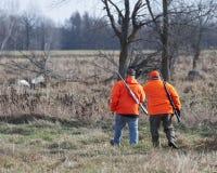 Cazadores de los ciervos foto de archivo libre de regalías