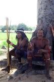 Cazadores Krikati - indios nativos del Brasil imagen de archivo libre de regalías