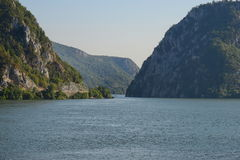 Cazanele桃莉出口的多瑙河  库存照片