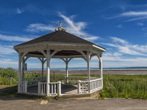 Gazebo. Casebo beside a nice park on a sunny afternoon beside a river Royalty Free Stock Images